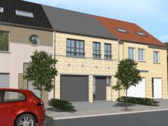 Nieuwbouwproject voor een half open bebouwing met het model CORNER 6/13 3 kamers, badkamer, wc, garage voor 1 wagen, driedubbel beglazing, zonnepanele