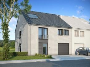 Nieuwbouwproject voor een half-open bebouwing met het model SALSA. 4 slaapkamers, 2 badkamers, garage voor 1 wagen, driedubbele beglazing, zonnepanele