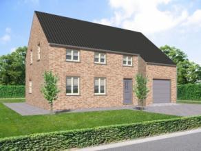 Nieuwbouwproject voor een open bebouwing met het model AURORA 12 3 kamers, badkamer, zolder, garage voor 1 wagen, driedubbel beglazing, zonnepanelen,