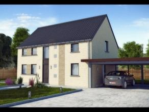 Nieuwbouwproject voor een open bebouwing met het model CLUB 3 kamers, badkamer, wasruimte, driedubbel beglazing, zonnepanelen, 14cm isolatie in de mur