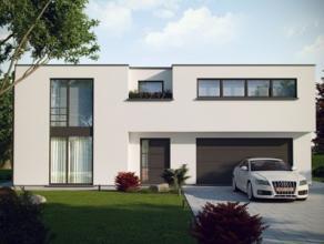 Nieuwbouwproject voor een open bebouwing met het model POLO 4 kamers, 2 badkamers, dressing, wc, wasruimte, garage voor 2 wagens, driedubbel beglazing