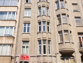 Gelijkvloers appartement te huur in Antwerpen, nabij de trendy Zurenborgwijk en het Centraal Station. Grote woonruimte met open keuken. Lichtrijke sla
