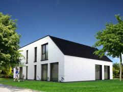 Ruime, energiezuinige loftwoning in witte gevelpleister. Vrijheid om te bepalen hoe je de woning afwerkt. Ruwbouw reeds af, dus snel beschikbaar. Je h