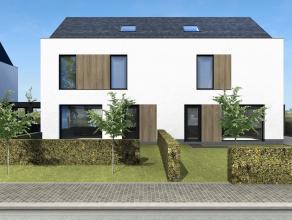 Lot 4 is een halfopen, strakke bebouwing met grote tuin op een grondopp. van 500m². <br /> <br /> GELIJKVLOERS: inkom, wc, ruime leefruimte met o