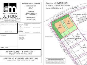 Verkaveling 't Waalken, in groene residentiële omgeving Dit uniek perceel van 1145m² voor open bebouwing is gelegen in een groene en rustige