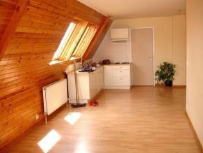 ACHILLE DETIENNE - Bel appartement 1 chambre + bureau de +/-65m². Living avec parquet et cuisine américaine équipée, 1 chamb