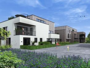 LAATSTE 3 stijlvolle 1-slaapkamer appartementen in residentie 'Vilago' in centrum Kessel. Ondergebracht in 3 verschillende blokken die samen een groen