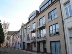 Ruim appartement met 2 slaapkamers, terras en autostandplaats centraal gelegen in Dendermonde. Indeling: Inkomhal met apart toilet, ruime woonkamer me