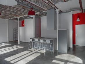 SERAING - Loft avec terrasse au rez-de-chaussée comprenant un hall d'entrée (2,1 m²); une pièce principale (50 m²) avec