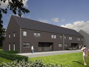 Zeer ruime moderne halfopen woning met 3 of 4 slaapkamers. Laatste woning! Het project is bijzonder goed gelegen in rustig doodlopend straatje nabij h