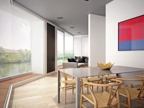 Res. Pauline - Uniek nieuwbouwproject te Lovendegem. Aangenaam hoekappartement/duplex. Appartement (nr. 4) van +/- 93m² omvat op de 1e verdieping