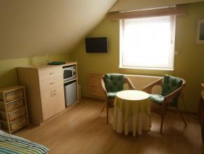 Gezellige, lichte kamer (16 m2) op 1ste verdieping voor een tijdelijk verblijf, te Londerzeel. Gemeubeld, alle comfort. Ijskastje, microwave (geen keu
