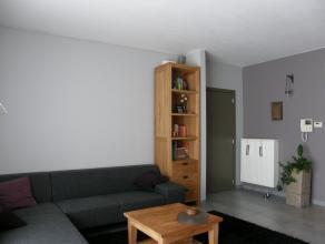 Gezellig appartement op het gelijkvloers met 1 slaapkamer en een mooi terras in het centrum van Lommel.  Keuken inclusief toestellen.  Autostaanplaats