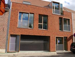 Nieuw, zeer laag energie loft-appartement, vlakbij IMEC, campus Arenberg en H. Hartinstituut. Zeer lichtrijke living met volledig ingerichte keuken me