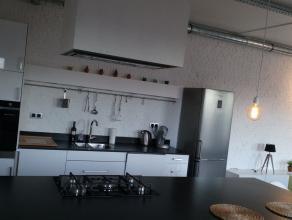 GEMEUBELD 1 slaappkamer appartement (2e verdieping) 99m² met terras van 10m² in residentie DAMLOFTS in DAM wijk dichtbij park Spoor Noord. Herbestemmi