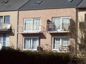 Te huur: prachtige zonnige duplex , in klein gebouw, tweede verdiep, 3 slaapkamers : living met groot schuifraam , veel lichtinval, terras, badkamer (