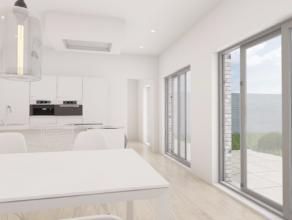 Nieuwbouwwoning met 5 slaapkamers, garage en grote zonnige tuin, goed gelegen in het centrum van Wingene. Totale bewoonbare oppervlakte 219m². IN