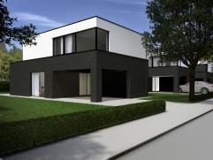 Centraal gelegen minimalistische nieuwbouwwoning op een uitstekend georiënteerd perceel bouwgrond van ca. 441 m². Een transparant & func