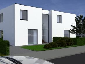 Krachtig concept bestaande uit twee halfopen minimalistische nieuwbouwwoningen met een perceeloppervlakte van respectievelijk ca. 299 m² en ca. 3