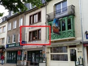 Bel appartement (1 chambre, ascenseur) avec vue sur la Semois, situé au centre-ville de Bouillon, à proximité des commerces. Comp