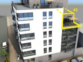Nieuwbouwappartement met 1 slaapkamer 64 m², op de vierde verdieping - met 2 terrassen (19 m²) Bewoonbaar en instapklaar. Inclusief overdekt