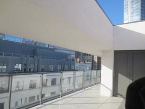 Appartement LOUER Bruxelles 1900 EUR Retour la liste MADOU : Construction neuve, Splendide penthouse 1ere occupation, 2 belles chambres coucher avec p