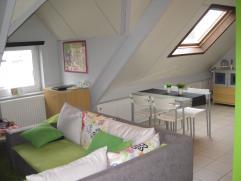 Knus dakappartement gelegen op de tweede verdieping van een kleinschalig appartementsgebouw.  Dit gezellig appartement heeft een woonoppervlakte van