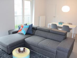 Modern gemeubeld 1 slaapkamerappartement met alle hedendaags comfort. Indeling: woonkamer, ingerichte keuken, badkamer en slaapkamer.