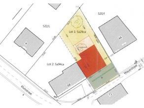Rustig gelegen bouwgrond voor halfopen bebouwing met een mogelijke bewoonbare oppervlakte van +-250 m². Maximale breedte van de voorgevel