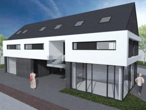 Duplex appartement met 3 slk' s, onderdeel van een kleinschalig appartementsgebouw, volgens een eigentijdse architectuur. Vanuit de woonkamer geniet u