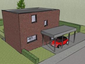 In een moderne verkaveling met louter plaatselijk verkeer, vindt U deze stijlvolle en energetische nieuw te bouwen woning, volgens uitzicht en indelin