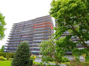Gerenoveerd appartement op 9de verdieping (lift aanwezig) met 2 ruime slaapkamers en een adembenemend uitzicht over de ganse stad Tienen. Warm water e