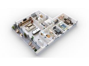 Cet appartement offre pas moins de 150m² et une terrasse de 23m².Division: hall, living, cuisine, débarras, toilette, 4 chambres &agr