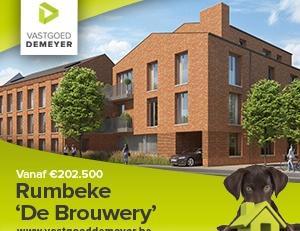 """Brouwerij """"Peene"""" langs de Rumbeeksesteenweg gaat tegen het bouwverlof tegen de vlakte. Projectontwikkelaar Verstraetebouw realiseert er een nieuw uni"""
