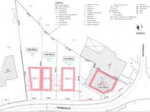 LOT 2 van 4 LOTEN in nieuwe verkaveling : Uitzonderlijke, rustiggelegenbouwgrond (+/-3a90ca) te koop voor halfopen bebouwing in rustige straat nabij a