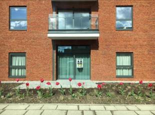 Moderne serviceflat van 58m² met 1 slaapkamer en terras in residentie Hof van Gan, op loopafstand van Genk-centrum, winkels en apotheek.Residenti