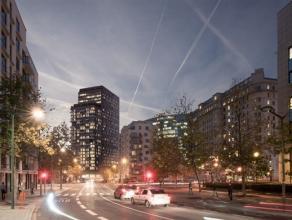"""BRUSSEL: Kies voor een exclusieve levensstijl, met """"THE ONE""""! Prachtig ruim appartement van 64 m² met 1 slaapkamer gelegen op de 2e verdieping. G"""