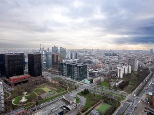 BRUXELLES, (31D) au 31ème étage de la toute nouvelle et prestigieuse tour UPSITE alliant luxe, modernité et sécurit&eacute