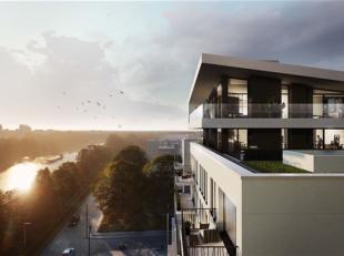 ATLANTIS  Waar stad en water elkaar vinden! :  Ontdek dit appartement met 1 slpk. van 71m² en een terras van 8 m² op de vierde verdieping :