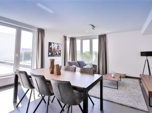 CITY DOX  ANDERLECHT :  Schitterend penthouse van 129 m² met 3 slaapkamers en een terras van 21 m². Kwaliteitsvol afgewerkt (superuitgeruste