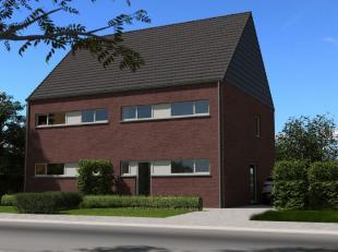 NIEUW TE BOUWEN half-open-bebouwing  lot 40 in een NIEUWE VERKAVELING tussen de Holtstraat-Geerenweg-Kiezelweg, INSTAPKLAAR incl badkamer en keuken, t