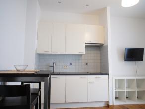 Gemeubeld, modern, ruim, gezellig en lichte studio/ appartement in een recent vernieuwd gebouw met een aparte slaapkamer. Huur 625 euro/maand (incl. 2