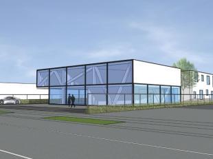 Te huur showroom van 300 m² tot 600 m² uitsluitend voor B2B-activiteiten in Gembloux.Nieuw project met uitstekend zicht, parkeergelegenheden