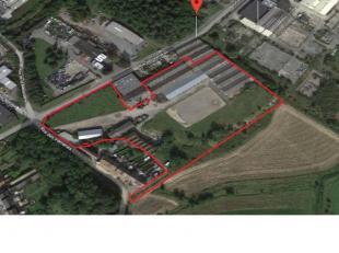 Te koop magazijn 8.500 m² op een perceel van 29.000 m² op Manage industriegebied klaar voor belangrijke snelwegen ideaal gelegen met veel po