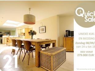 !!!QUICK SALE ZONDAG 8 SEPTEMBER!!! <br /> Kom vrijblijvend deze woning bezoeken tussen 14u en 16u en doe een bod vanaf 279.000 EUR *!<br /> Deze inst