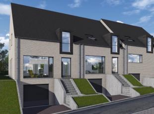 In een rustig straatje langs een invalsweg naar Zottegem, vinden we deze nieuw te bouwen woning van het type gesloten bebouwing (lot2) en half open be