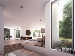 A proximité du lac de Genval, dans un cadre buccolique, magnifique villa contemporaine de Marc Corbiaux. Située sur un terrain de  20,39