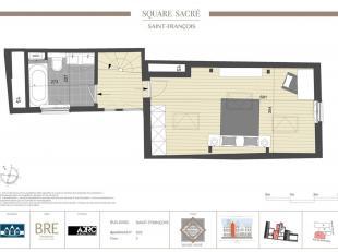 SQUARE SACRE : situé à deux pas de la Grand Place et de la Gare Centrale. Ce projet de logements de haut standing vous propose un duplex