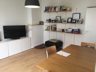 Het appartement is gelegen in het bruisende hart van Antwerpen Zuid. Living met veel lichtinval met aansluitend keuken en klein terras. Achteraan het