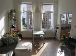 We vinden dit 1 slaapkamer appartement vlakbij de Marnixplaats te Antwerpen Zuid. Het appartement gelegen op de eerste verdieping heeft een ruime leef